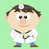 Medico, personaggio dei cartoni animati, illustrazione di vettore Fotografia Stock