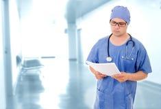 Medico preoccupato Fotografie Stock
