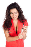 Medico della donna o dell'infermiera con la siringa Fotografia Stock