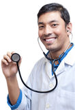 Medico Showing Stethoscope Immagini Stock