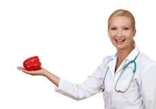 Medico sorridente Immagine Stock