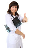 Medico sorridente isolato Fotografie Stock Libere da Diritti