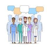 Medico Team Communication Concept Illustrazione Vettoriale