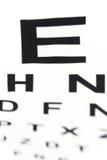 Medico - vista sfocata del grafico di occhio Fotografia Stock Libera da Diritti