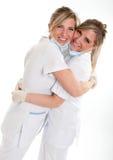 Medics celebrating Stock Image