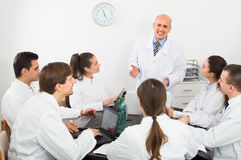 Medics at colloquium in clinic Stock Photography