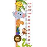 Medida animal de la altura del parque zoológico stock de ilustración