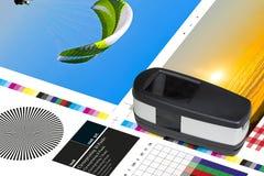 Medida compensada de la barra de color de la hoja de la impresión Fotografía de archivo libre de regalías
