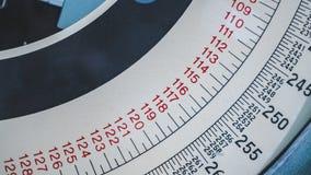 Medida da escala do círculo com indicador dos números imagens de stock royalty free