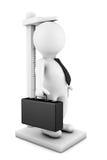 medida da pessoa do homem de negócios 3d seu crescimento Fotografia de Stock