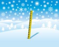 Medida da profundidade da neve Imagens de Stock