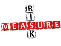 medida das palavras cruzadas do risco 3D Foto de Stock