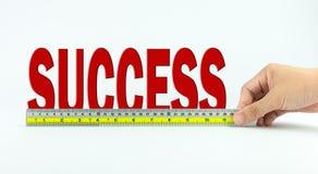 Medida de éxito Imagenes de archivo