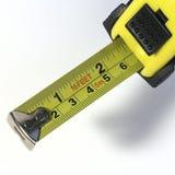 Medida de fita amarela Foto de Stock Royalty Free