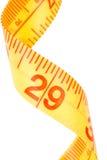 Medida de fita amarela Imagens de Stock Royalty Free