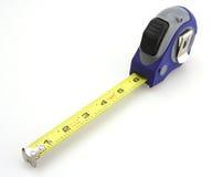 Medida de fita azul e cinzenta Imagem de Stock