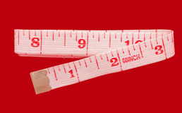 Medida de fita - polegadas Fotos de Stock