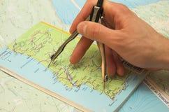 Medida de la distancia Imagen de archivo libre de regalías