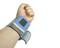 Medida de la presión arterial Imágenes de archivo libres de regalías