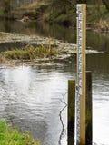 Medida de la profundidad del río Fotografía de archivo libre de regalías