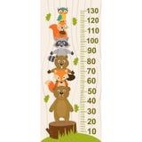Medida del crecimiento con el animal del bosque libre illustration