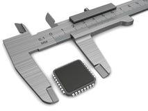 Medida del microprocesador Foto de archivo