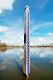 Medida del nivel del agua Imagen de archivo