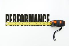 Medida do desempenho Foto de Stock Royalty Free