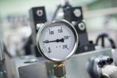 Medida do indicador do sistema para monitorar a circunstância foto de stock