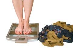 Medida do peso dentro do grama Imagens de Stock