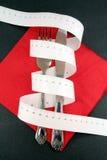Medida e forquilha de fita Foto de Stock