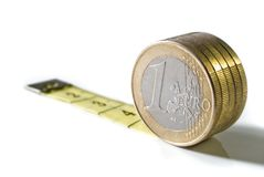 Medida separada da moeda Imagem de Stock