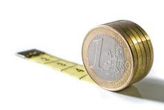 Medida separada de la moneda Imagen de archivo