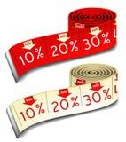 Medidas da venda ilustração stock