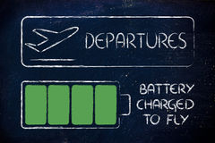 Medidas de segurança aeroportuária, dispositivos carregados Fotos de Stock Royalty Free