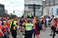 Medidas de segurança aumentadas para o dia de Canadá em Ottawa Imagens de Stock Royalty Free