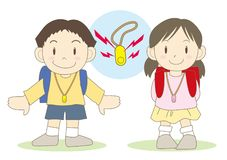 Medidas de seguridad para los niños - zumbador de la seguridad ilustración del vector