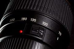 Medidas del anillo del foco de la lente Foto de archivo