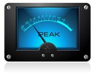 Medidor análogo quadrado azul Fotografia de Stock Royalty Free