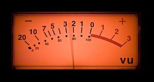 Medidor Animated do vu Imagens de Stock