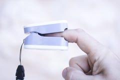 Medidor cardíaco do pulso do dedo fotos de stock