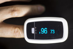 Medidor cardíaco do pulso do dedo Imagem de Stock Royalty Free