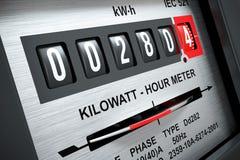 Medidor 3d da hora de quilowatt da eletricidade ilustração do vetor