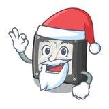 Medidor da amperagem de Santa acima da tabela dos desenhos animados ilustração stock