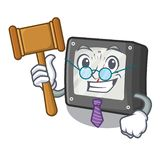 Medidor da amperagem do juiz acima da tabela dos desenhos animados ilustração royalty free