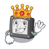 Medidor da amperagem do rei acima da tabela dos desenhos animados ilustração royalty free
