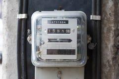 Medidor da eletricidade da hora de quilowatt, medidor da fonte de alimentação, símbolo da hora fotos de stock royalty free