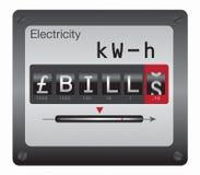 Medidor da eletricidade (GBP) ilustração stock