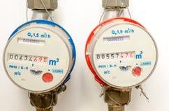 Medidor de água Fotografia de Stock