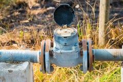 Medidor de água da turbina imagem de stock royalty free
